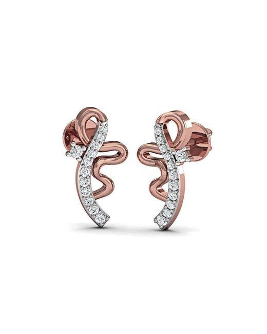 Diamoire Jewels - Metallic Pulchritudinous Stud Diamond Earrings In 18kt Rose Gold - Lyst