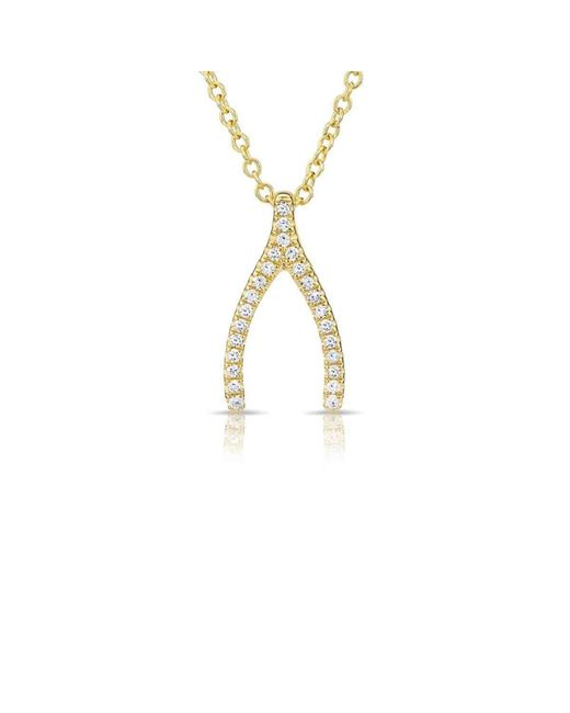 Anne Sisteron | Multicolor Wishbone Necklace | Lyst