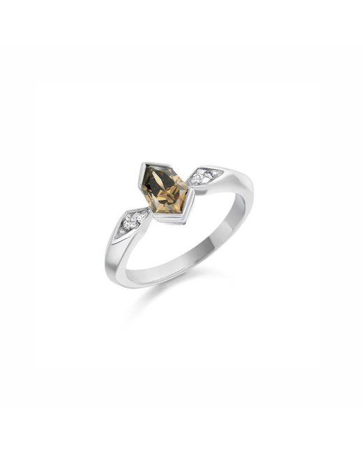 Justin Richardson - Metallic Trapeze Cognac Diamond Ring - Lyst