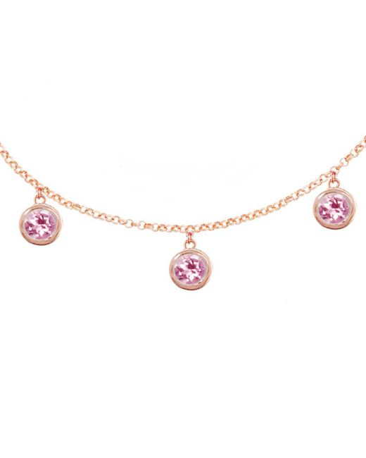 London Road Jewellery - Modern Rose Gold Pink Tourmaline Dew Drop Necklace - Lyst