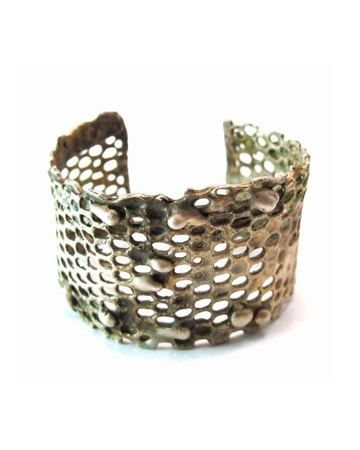 Private Opening - Metallic Honeycomb Oxidized Silver Cuff - Lyst