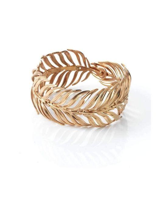 Serena Fox - Metallic Palm Rose Gold Vermeil Bracelet - Lyst