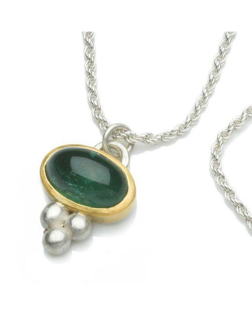 Naomi Tracz Jewellery - Green Tourmaline Orb Pendant - Lyst