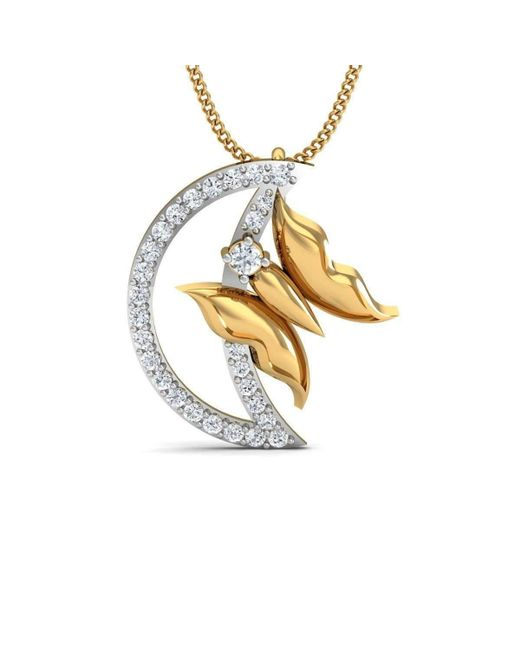 Diamoire Jewels | Metallic Swallowtail Butterfly Carved Pendant In 18kt Yellow Gold | Lyst