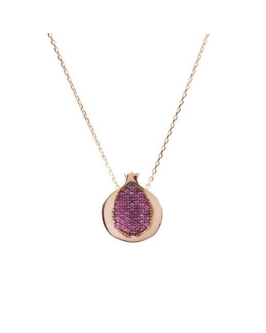 Latelita London - Metallic Rose Gold Plated Silver Hidden Gems Pomegranate Necklace - Lyst