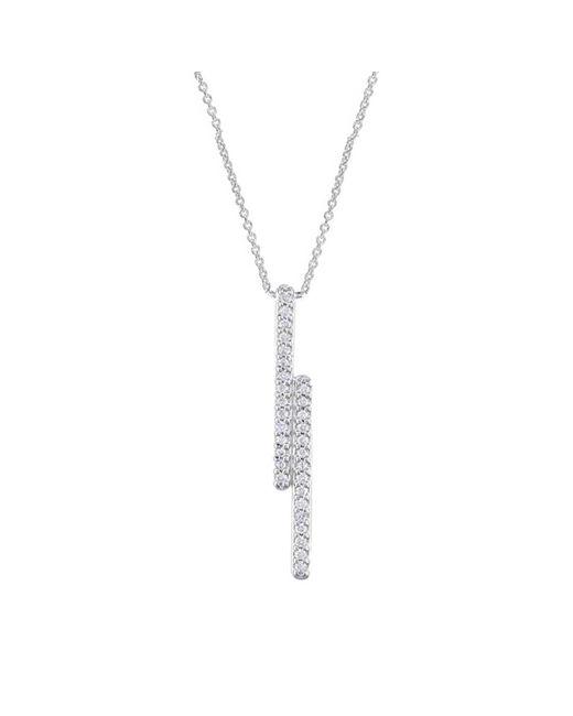 London Road Jewellery - Metallic White Gold Diamond Geo Pendant Necklace - 0.09cts - Lyst