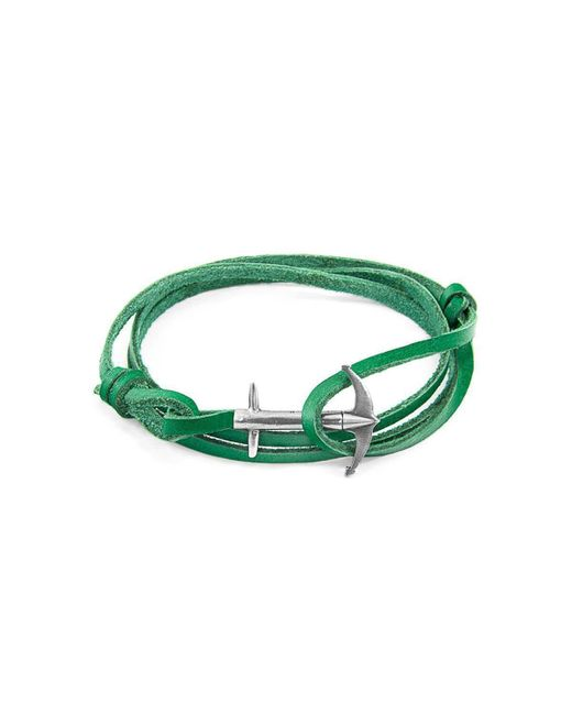 Anchor & Crew - Multicolor Fern Green Admiral Silver And Leather Bracelet for Men - Lyst