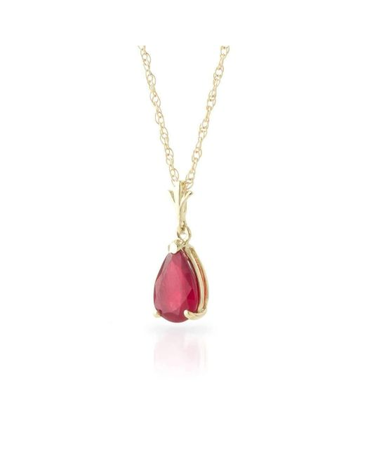 QP Jewellers   Metallic 9kt Gold Ruby Belle Pendant Necklace   Lyst