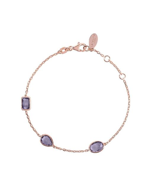 Latelita London Venice Bracelet Rose Gold Smoky Quartz elJPuKJ