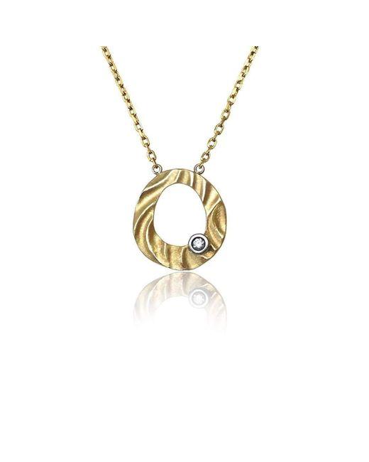 K.Mita - Metallic Pebble Pendant - Lyst