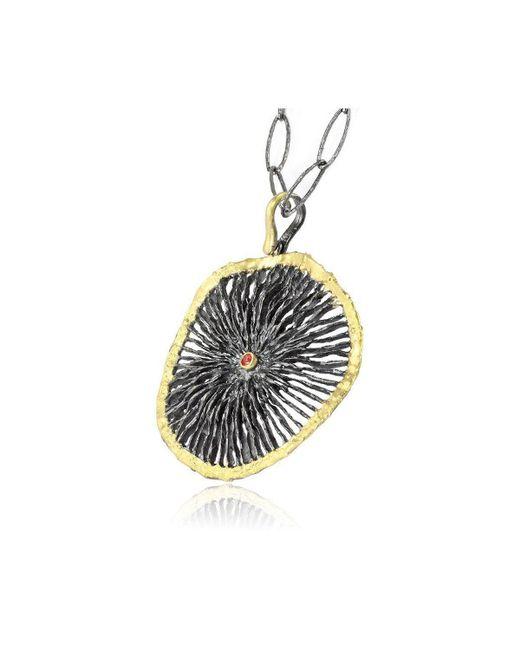 Apostolos Jewellery - Metallic Black Star Oxidised Silver Pendant - Lyst