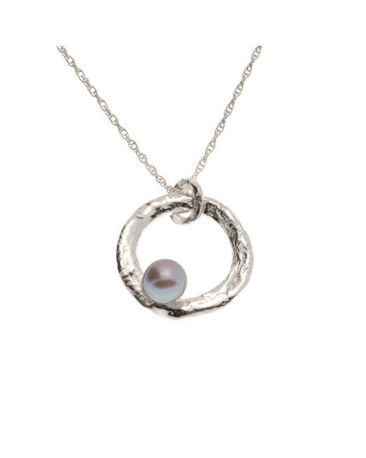 Erin Cox Jewellery - White Floating Pearl Pendant - Lyst