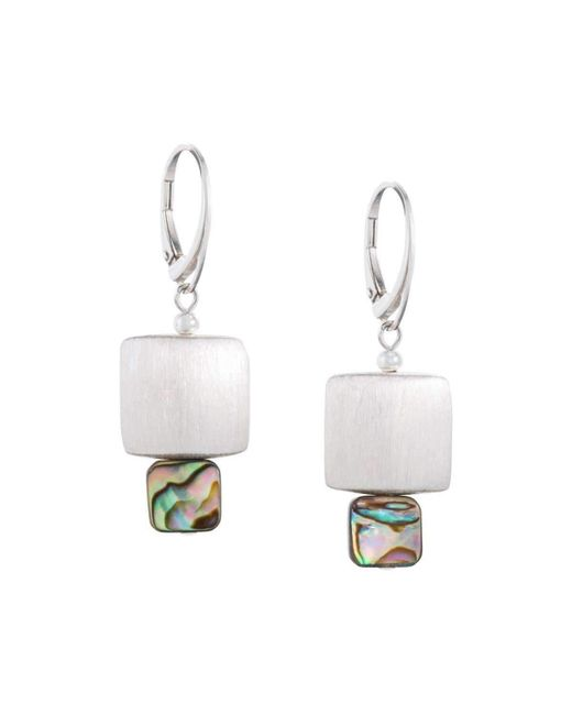 Naomi Jewelry - White Blaze 139 Earrings - Lyst