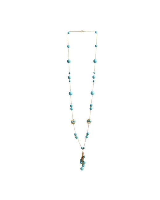 M's Gems by Mamta Valrani - Multicolor Ethereal Chain With Turquoise And Beads - Lyst