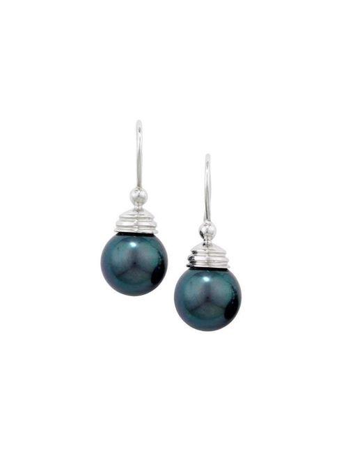 London Road Jewellery | Multicolor Burlington White Gold Grey Pearl Ball Drop Earrings | Lyst