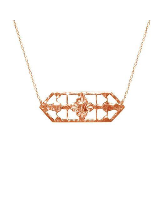 Murkani Jewellery - Metallic Vintage Treasure Necklace In Rose Gold Plate - Lyst