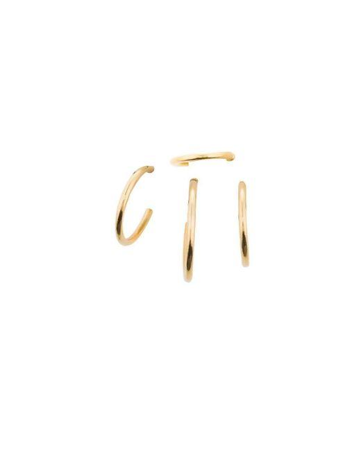 Joanna Laura Constantine - Metallic Set Of 4 Mini Nail Hoop Earrings - Lyst