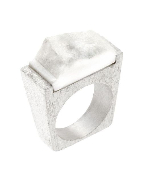 Pasionae - White Snow Ring - Lyst