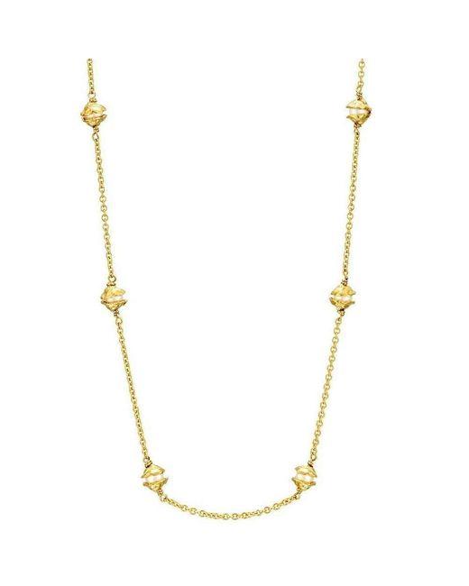 Joseph Lamsin Jewellery - Metallic Multi Pearl Gold Vermeil Encased Necklace - Lyst