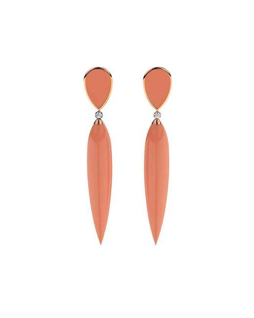 MARCELLO RICCIO - Multicolor Coral, Gold & Diamond Earrings - Lyst