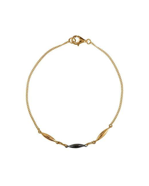 Vurchoo - Metallic Hun Pitou Yellow Gold And Black Rhodium Bracelet - Lyst