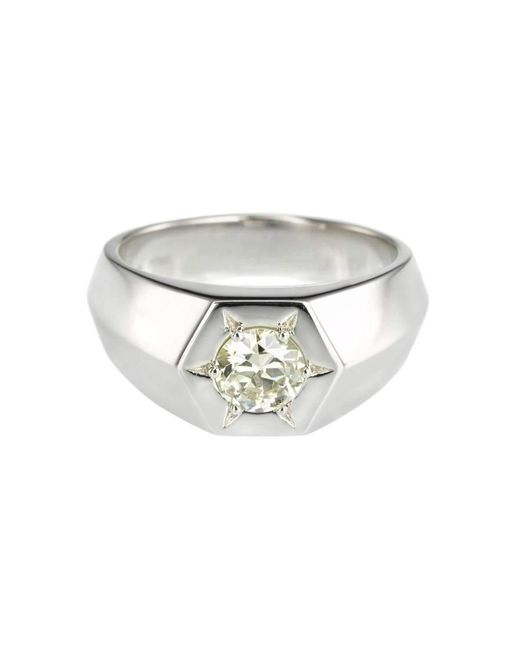 Alexis Kletjian   Metallic Bespoke Lucky Star Platinum Ring   Lyst