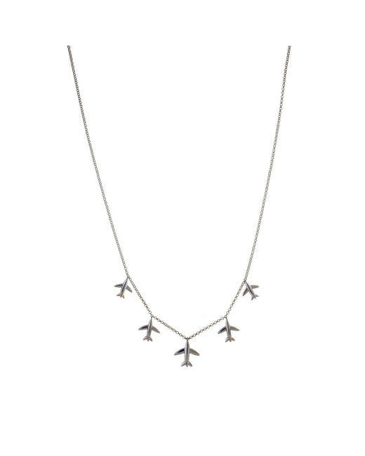 PAOLA MILANO | Metallic 5 Flying Souvenir White Necklace | Lyst