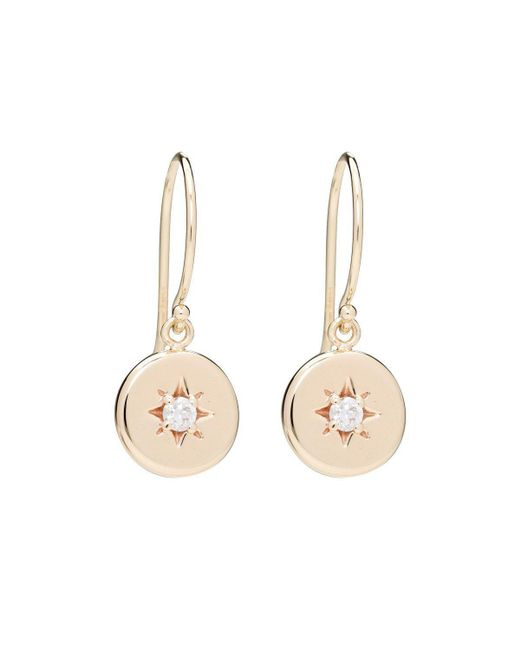 Alexis Kletjian - Metallic Lucky Star White Diamond Dangle Earrings - Lyst