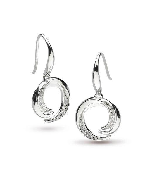 Kit Heath - Metallic Twine Helix Pave Drop Earrings - Lyst