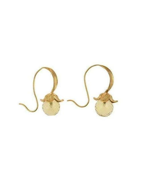 Militza Ortiz Lemon Quartz Flower Earring xr9O1
