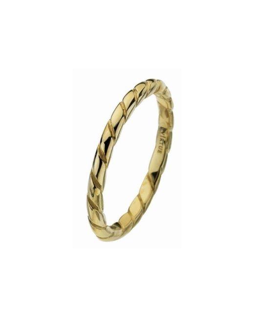 Virtue London - Metallic Gold Rope Ring - Lyst