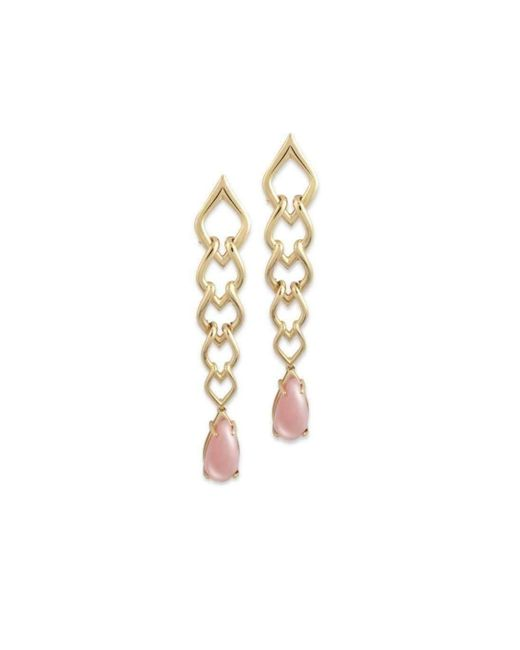 Chavin Couture | Metallic 18kt Yellow Gold Earrings With Pink Opal | Lyst