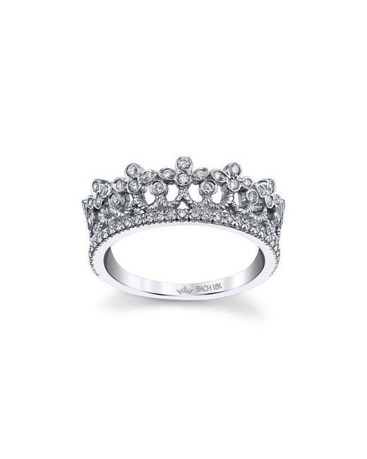 Cynthia Bach Metallic Strawberry Leaf Tiara Ring
