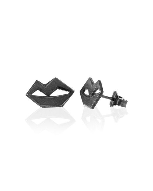 Ilda Design - Multicolor Unspoken Oxidised Silver Earrings - Lyst