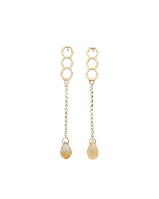 Uma K - Metallic Honeycomb Citrine Earrings - Lyst