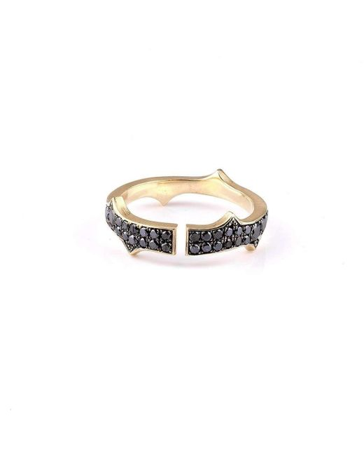 Sylva & Cie - Multicolor Black Diamond Knuckle Stack Band - Lyst
