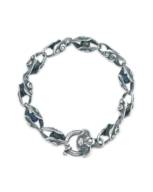 Suciyan - Multicolor Dragon Knot Lapis And Ruby Sterling Silver Bracelet - Lyst
