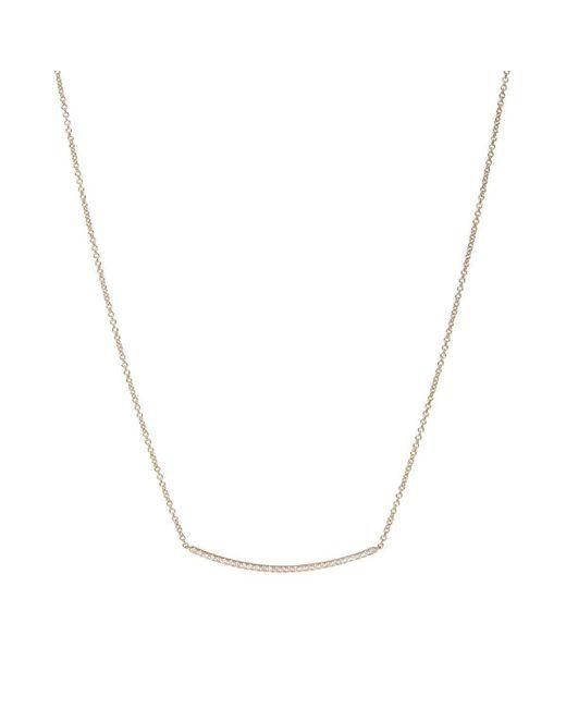 Verifine London - Multicolor Diamond Bar Necklace In White Gold - Lyst