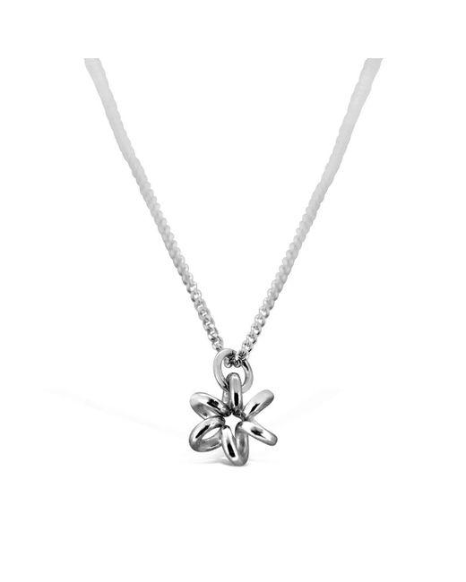 Maree London - Metallic Silver Daisy Necklace - Lyst