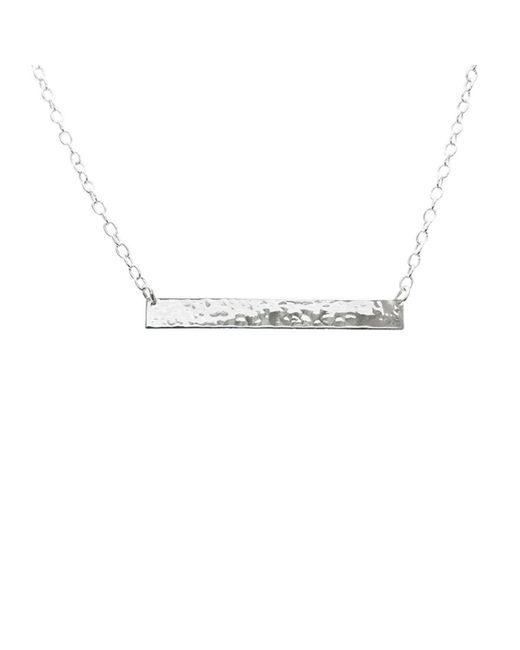 Murkani Jewellery - Metallic Plain Bar Necklace In Sterling Silver - Lyst