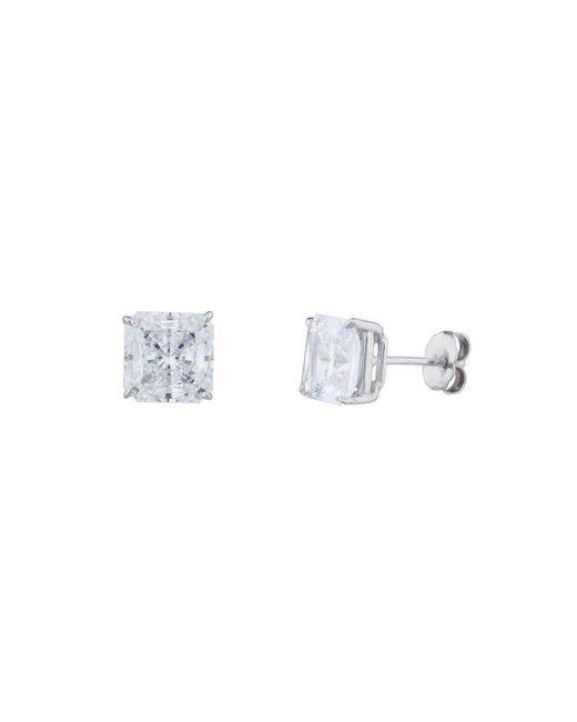 Fantasia 14kt White Gold 3.5ct Round Stud Earrings 84OZzVL