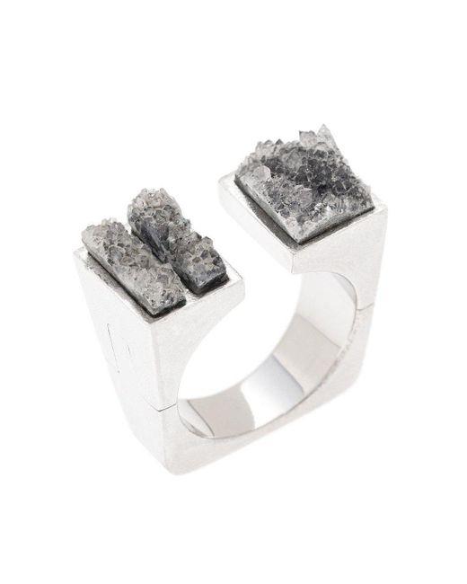 Pasionae - Metallic Open Top Ring - Lyst