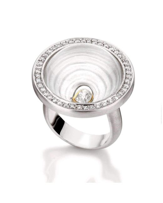 Rose Carvalho - Metallic Mandala Of Time Ring - Lyst