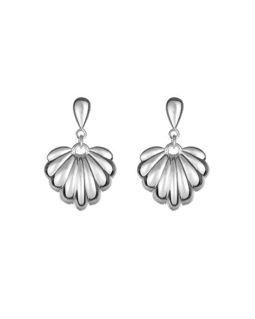 Coco & Kinney Metallic Sterling Silver Lucy Earrings