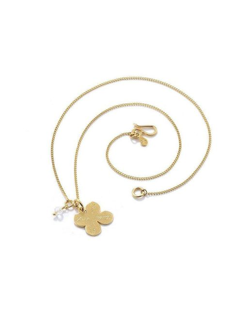 Vicky Davies - Metallic Sterling Silver & 18kt Gold Four Leaf Clover Pendant Necklace - Lyst