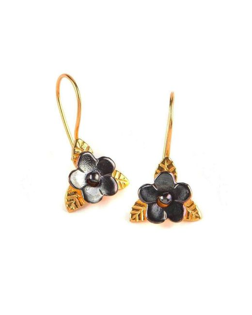 Toosis | Multicolor Duo Color Flower Earrings | Lyst