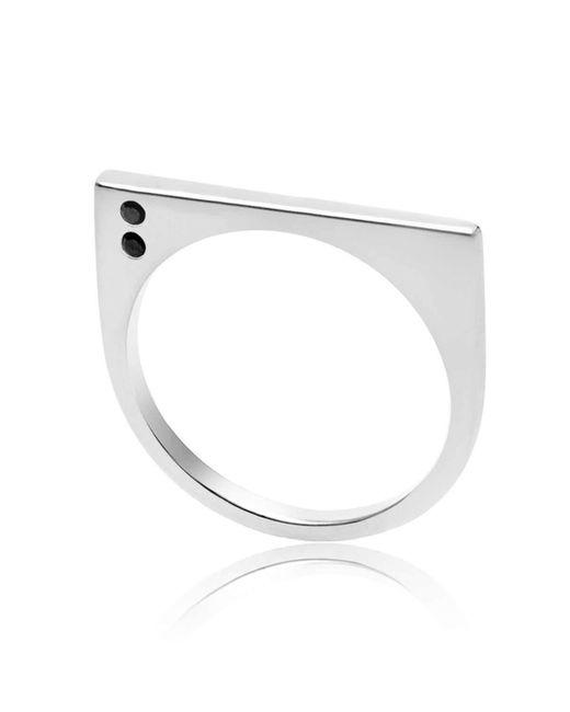 Neola | Metallic Minerva Gemstone Silver Ring | Lyst