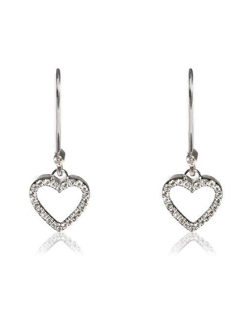 Kaizarin - Metallic Heart To Heart Earrings - Lyst