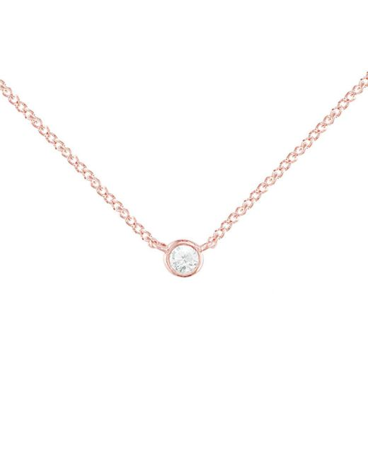 Womens metallic rose gold diamond solitaire raindrop pendant necklace london road jewellery metallic rose gold diamond solitaire raindrop pendant necklace lyst mozeypictures Gallery