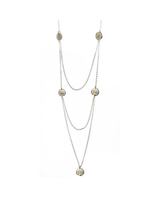 Sima Vaziry - Metallic Coin Gold Necklace - Lyst